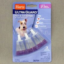 Капли Hartz Ultra Guard Drops for Dogs and Puppies инсектоакарицидные для собак и щенков, от13,5 до 27 кг, 4.1 мл 4.1 ml